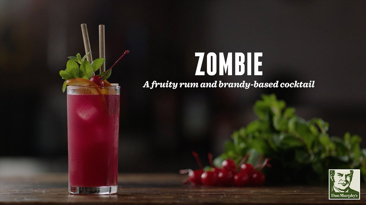 How To Make A Zombie Cocktail Recipes Youtube