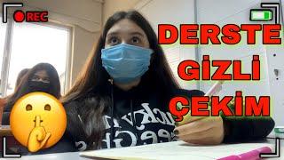 DERSTE GİZLİ ÇEKİM YAPTIM !! Günlük Vlog | LGS KAYNAK KİTAPLARIM