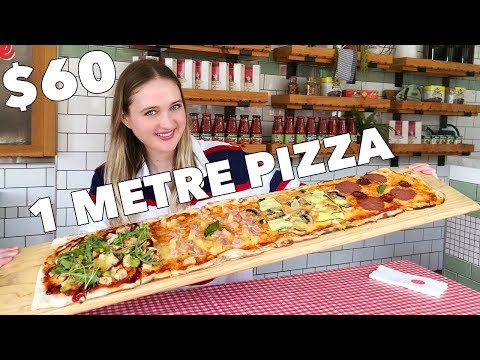 Chris Davis - Model Consumes 3-FOOT Pizza in UNDER 5 Minutes!