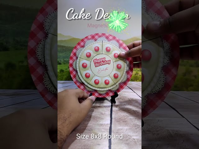 HAPPY BIRTHDAY PHOTO FRAME WITH 7 IMAGES SURPRISE PHOTOS MAGNETIC ROUND FRAME WITH STAND PHOTO GIFTS