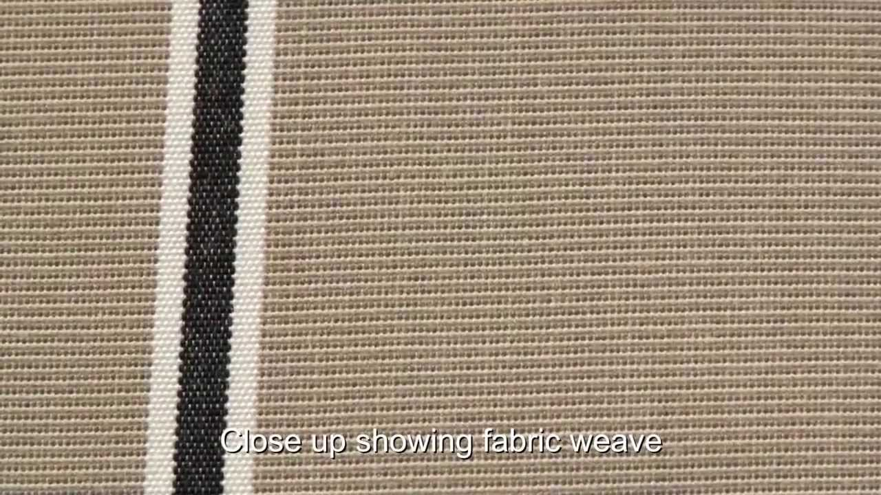 Video Of Sunbrella Putty Regimental Awning Stripe Fabric 4961 0000