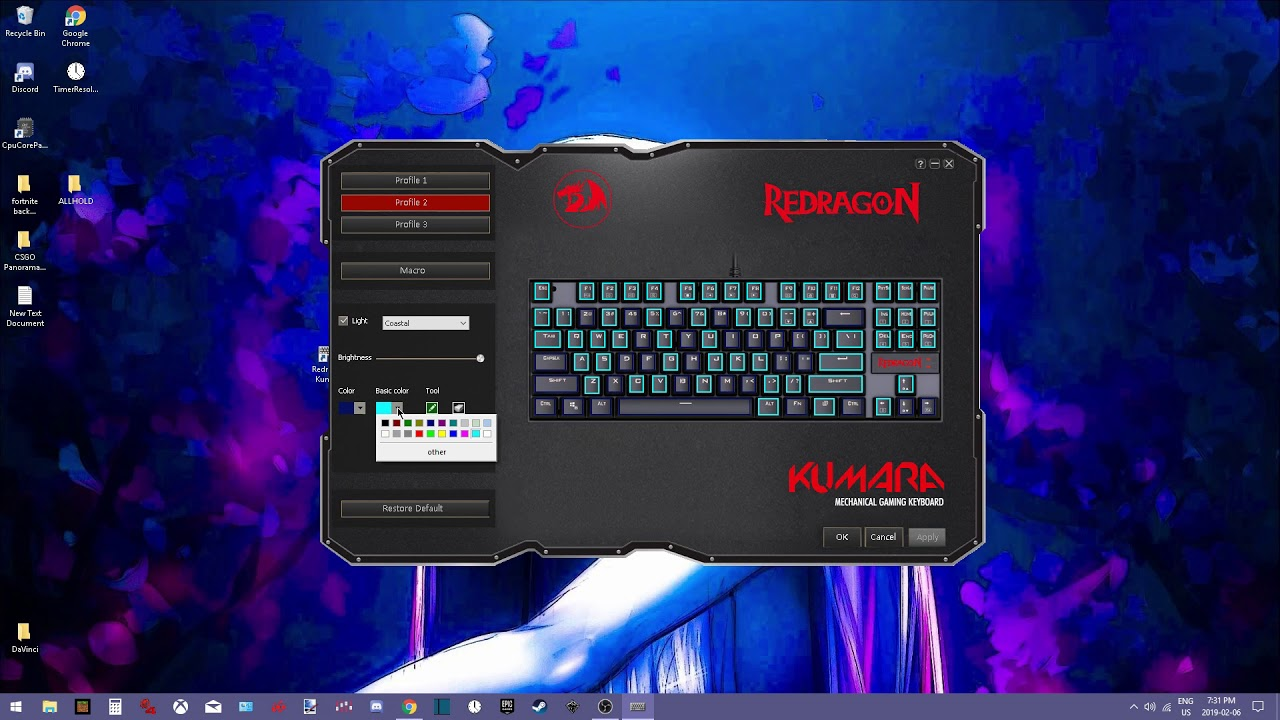 BROKEN* Redragon kumara k552 [Driver] software and [How to use]