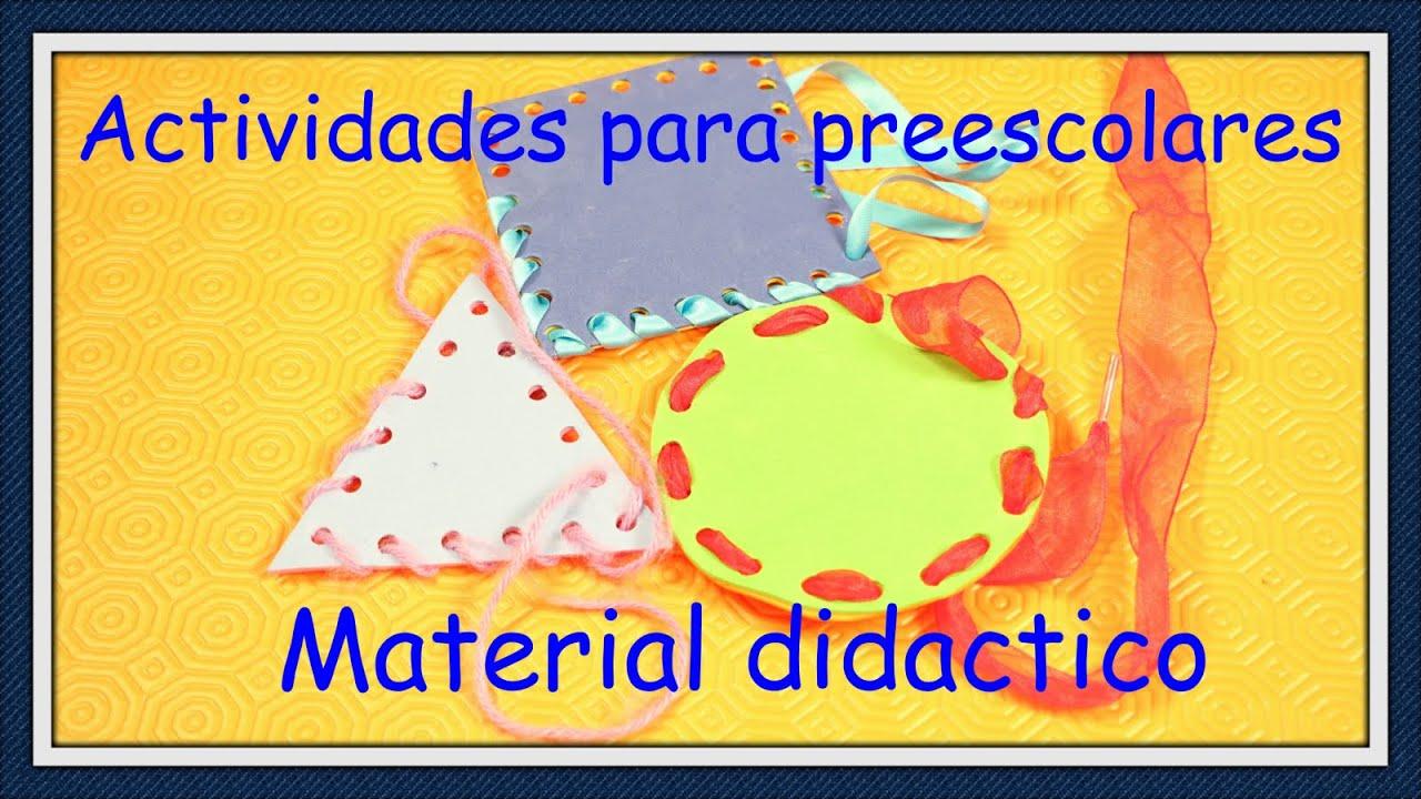 ACTIVIDADES PARA NIÑOS PREESCOLARES / MATERIAL DIDACTICO - YouTube