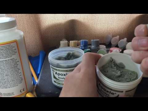 Sculpting hair on action figure heads tutorial