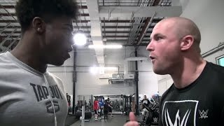 "Patrick Clark and Sean Hayes take part in a Ric Flair ""Wooo!""-off"