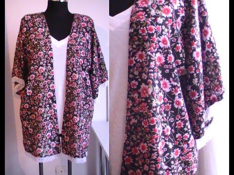 Tuto couture : kimono d'été avec franges, patron gratuit super facile