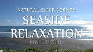 Seaside Relaxation One Hour - Natural White Noise (Ocean Waves for Sleep, Study, Yoga, Meditation)