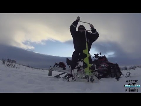 Ice fishing for Arctic Char in Norway
