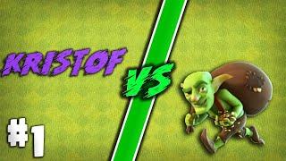 Kristof VS Goblini #1 |Clash Of Clans Romania