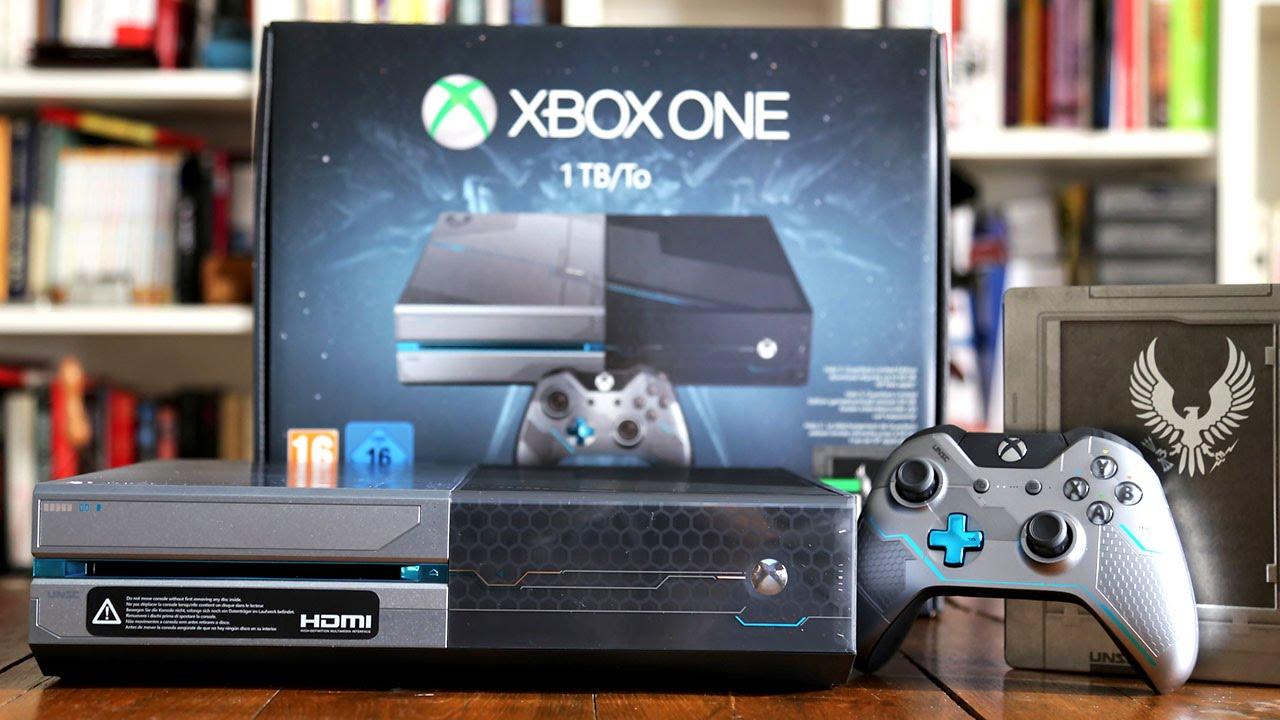 XBOX ONE : notre unboxing de la console Halo 5 ! - YouTube