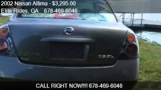 2002 Nissan Altima BASE for sale in LAWRENCEVILLE, GA 30044