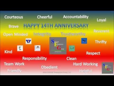 Schmidt Enterprises Group, Inc. 14th Anniversary's