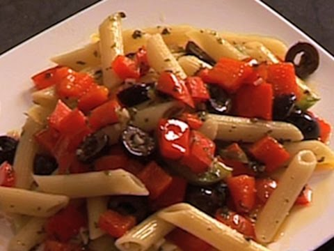 Red Pepper And Olive Pasta Recipe