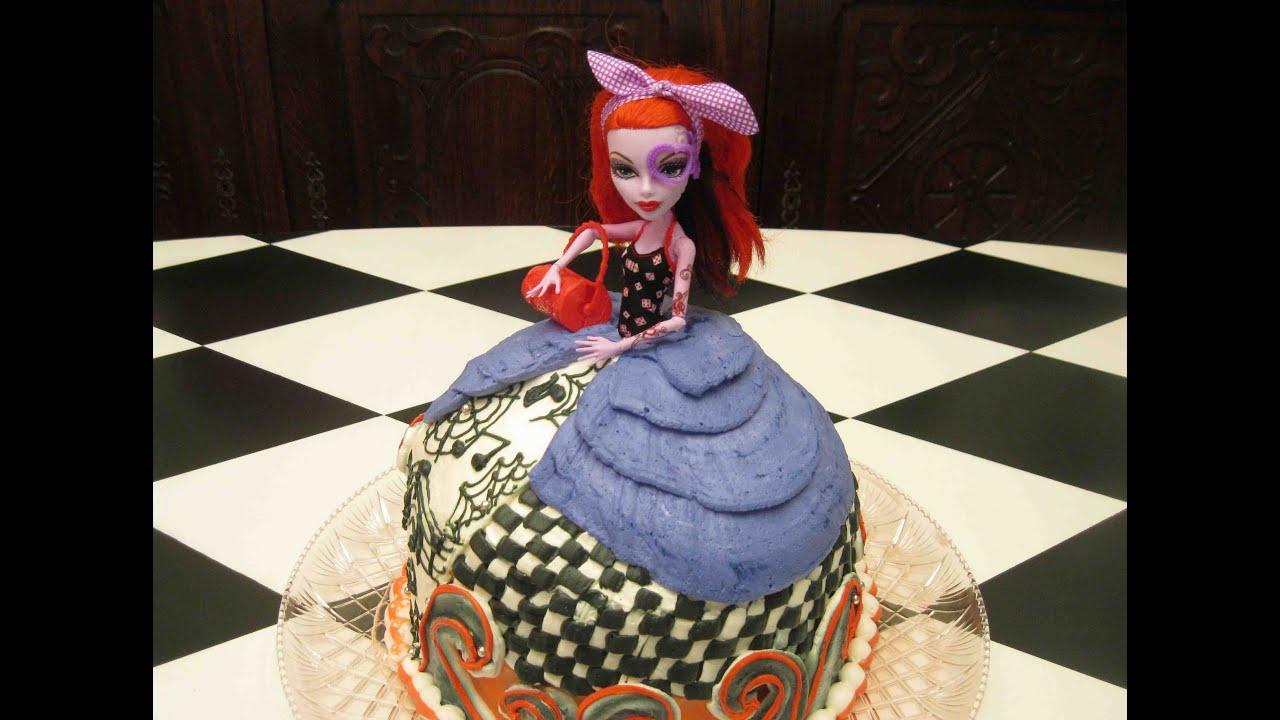 How To Make A Monster High Barbie Doll Cake! DIY Cake ...