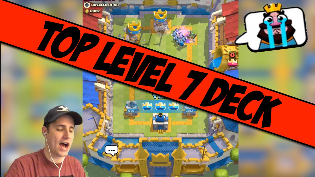 Best Level 7 Battle Deck Clash Royale Tips Youtube