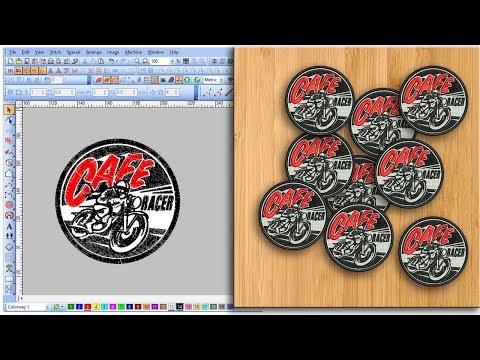 Desain Bordir Emblem Cafe Racer   Free Tutorial Wilcom Embroidery Designs thumbnail