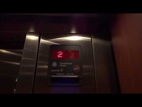 (1080p Take) ThyssenKrupp Hydraulic Elevators @ Pueblo Bank & Trust in Colorado Springs, CO