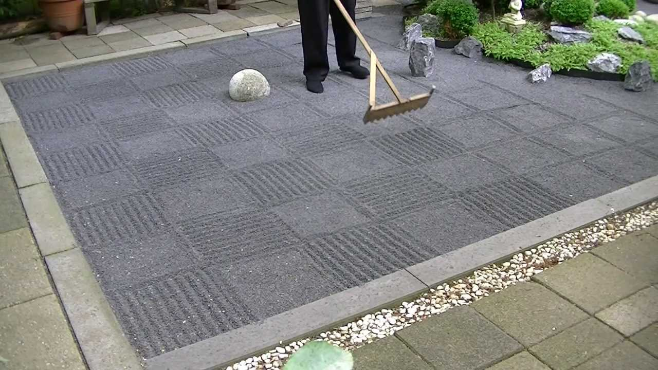 ASMR Japanese zen garden raking YouTube