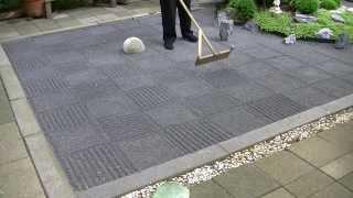 ASMR Japanese zen garden raking 禅の庭