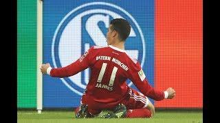El primer gol del James Rodríguez con la camiseta del Bayern München
