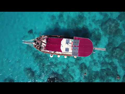 the QueenBee  ship trip  greece  dji mavic pro