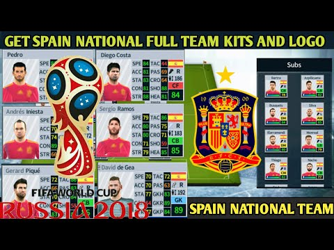 How To Import Spain National 2018 Full Team Kits And Logo In Dream League Soccer 2018