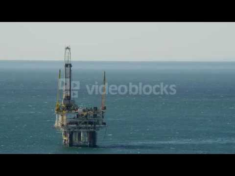 aerial view of an oil rig offshore los angeles usa rfldrrhd