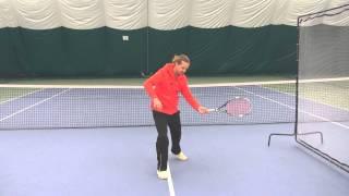 Теннис. Работа ног при игре слёта.