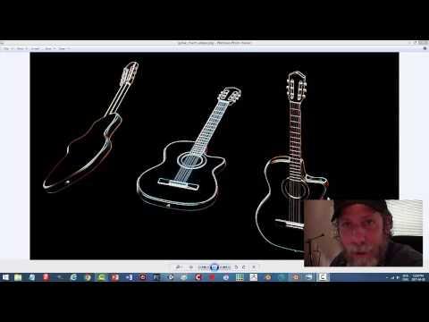 Blender: Modeling An Acoustic Guitar