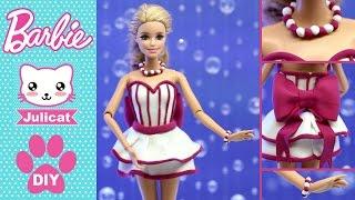 Барби Одежда для кукол своими руками: платье, браслет и бусы. Легкий пластилин