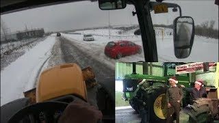 JCB FASTRAC Snow Ploughing and BLOOPERS!