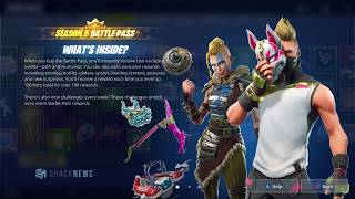 Fortnite Season 5 Battle Pass Gameplay - Outfits, Skins, Emotes, & More