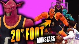 20 FOOT SPACE JAM 2 MONSTARS In NBA 2K19... Biggest Players EVER CREATED!