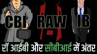 रॉ, आईबी और सीबीआई में क्या अंतर है Difference Between Raw, IB And CBI