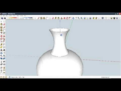 How To Create A Flower Vase In Google Sketchup Youtube