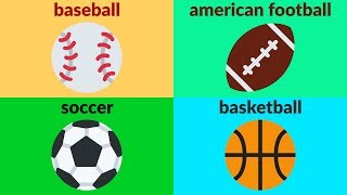 Sports and games vocabulary for beginners, kids, kindergarten. here is an educational video to learn names of in english with emojis. subscribe to...