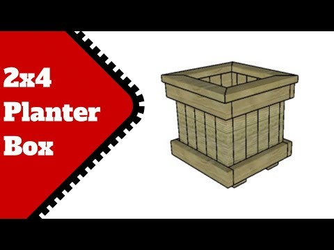 DIY 2x4 Planter Box Plans