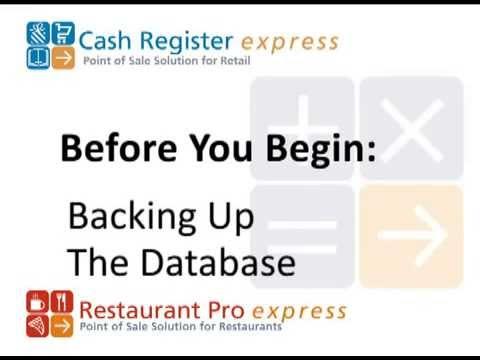 pcAmerica RPE Setup Backing up Your Database