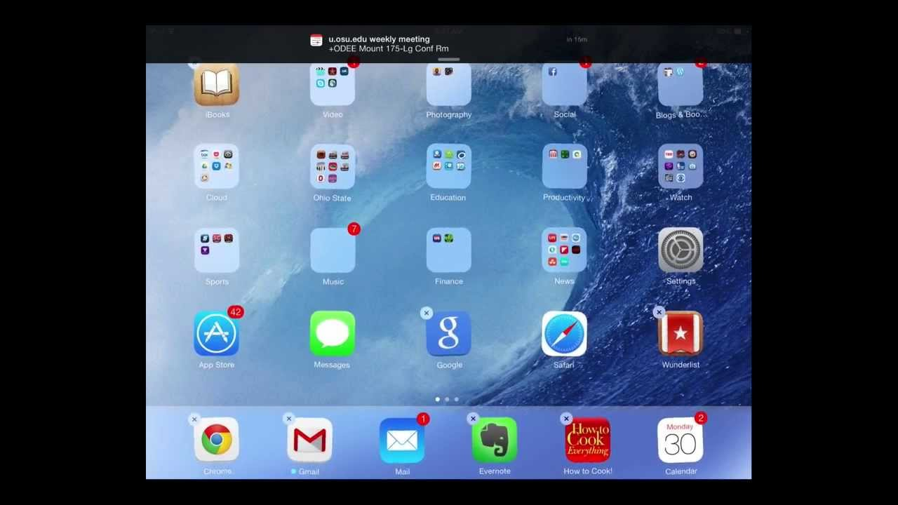 Organizing Apps organizing apps on your ipad in ios 7 - youtube