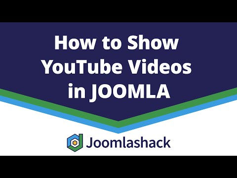 How To Show YouTube Videos In Joomla Articles