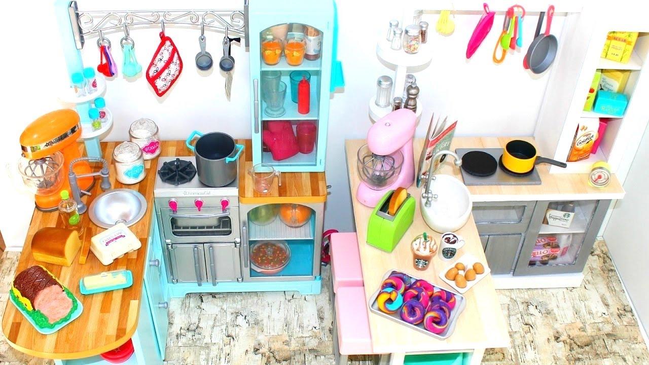 DIY American Girl Doll Gourmet Kitchen - YouTube