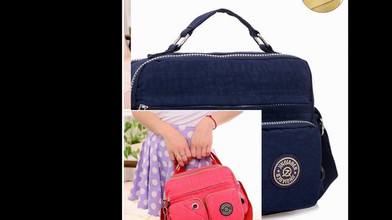 Tiny Chou Lightweight Waterproof Nylon Top-handle Handbag Compact Crossbody Shoulder  Bag with Pocket 88801fcfe0e75