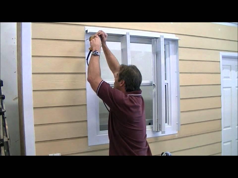 Accordion Hurricane Shutter Installation Video Wmv Youtube
