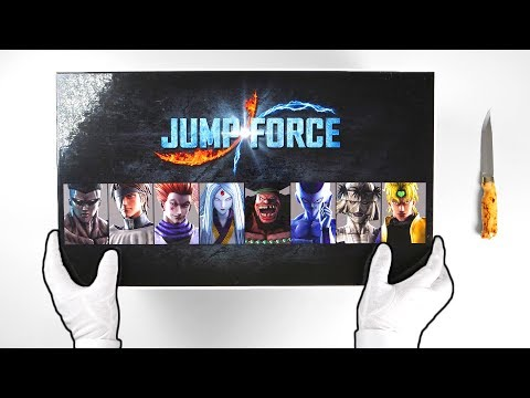 Unboxing JUMP FORCE Collector's Edition (Press Kit) + Gameplay