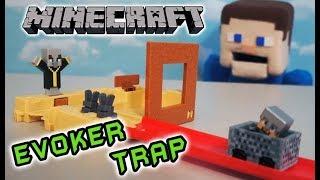 Minecraft Hot Wheels EVOKER TRAP Playset Unboxing Mattel Mini Figures Blind Box, Puppet Steve