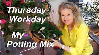How I Make My Potting Mix   Fan Letter   Garden Workday   Vlog