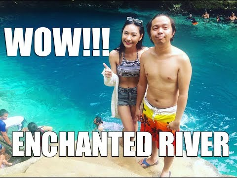roadfill travels to the Enchanted River in Rock Island Resort, Surigao, Philippines