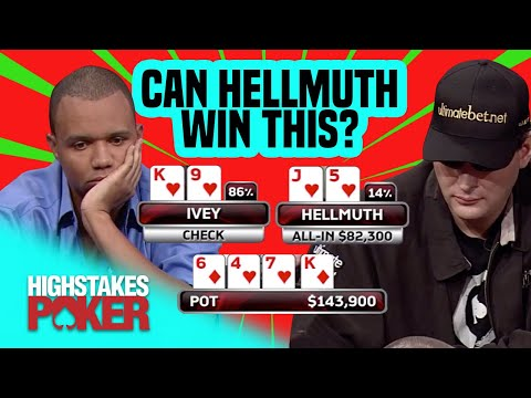 Phil Ivey Has Phill Hellmuth In Trouble On High Stakes Poker!