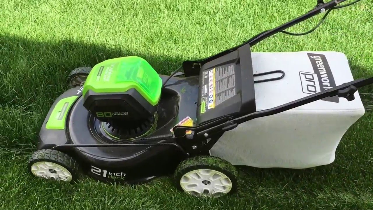 Cordless Electric Lawn Mower Green Works Pro 80 Volt