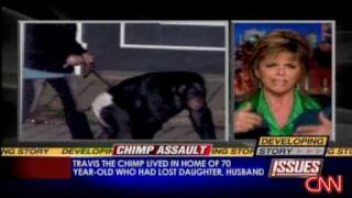 Woman attacked by pet chimp